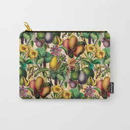 Passion Fruit and Flower Garden Retro Carry-All Pouch