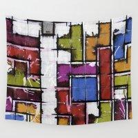 tetris Wall Tapestries featuring Life as Tetris by chris panila