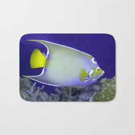 Queen Angelfish From Side Bath Mat