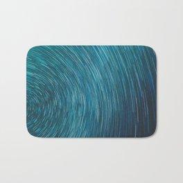 Abstract blue starry sky Bath Mat