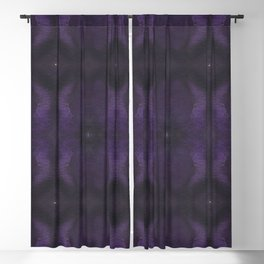 Deep Purple Mirrored Watercolor Blackout Curtain