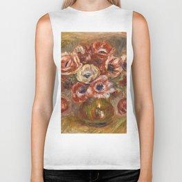 """Auguste Renoir """"Anémones dans un vase"""" Biker Tank"""