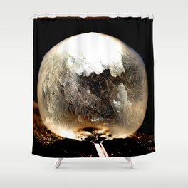 Bubble Frozen in Time Shower Curtain