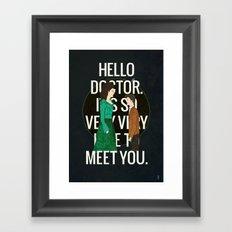 Hello Doctor Framed Art Print