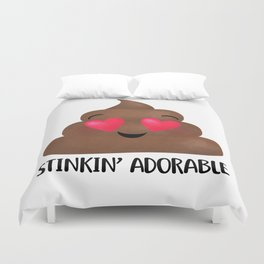 Stinkin' Adorable - Poop Duvet Cover
