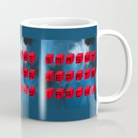 patriarchy Mugs featuring Smash The Patriarchy by pandaliondeath