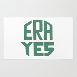 ERA YES (Green on white) Rug
