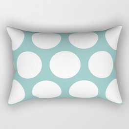 Chalky Blue Large Polka Dots Rectangular Pillow