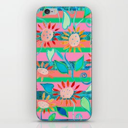 zakiaz flower stripe iPhone Skin