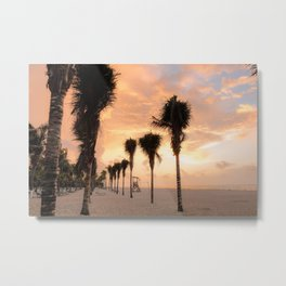 The Palms Greeting the Day Metal Print