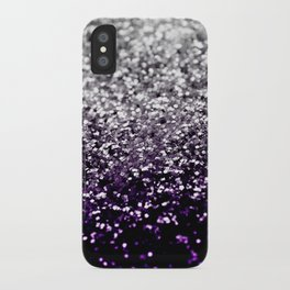 Dark Night Purple Black Silver Glitter #1 #shiny #decor #art #society6 iPhone Case