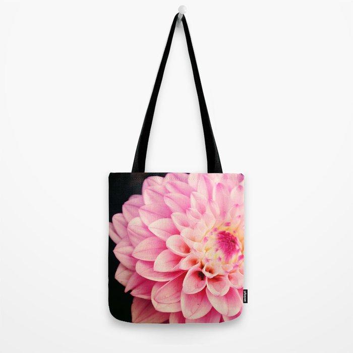 Sweet Pink Dahlia Tote Bag