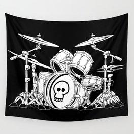 Drum Set Cartoon Wall Tapestry
