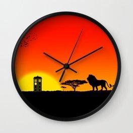 Tardis Sunset Wall Clock