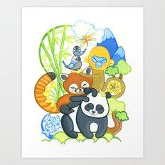 Bamboo Bunch Art Print