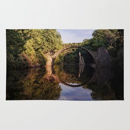 Mystical stone arch- Stonearch History Lake Reflection on #Society6 Rug