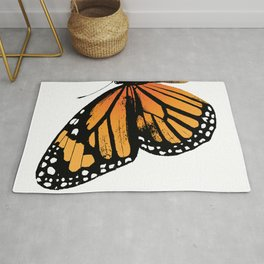 Monarch Butterfly | Left Butterfly Wing | Vintage Butterflies | Rug
