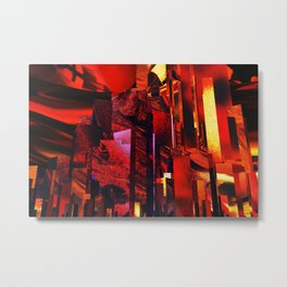 Q-City Six Metal Print