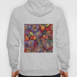 Alcohol Ink Flower Bouquet Hoody