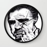 godfather Wall Clocks featuring The Godfather by tyler Guill