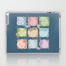 Blobby Cats dark Laptop & iPad Skin