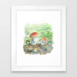 A pair of mushrooms Framed Art Print