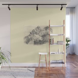 Three horses - pencil sketch Wall Mural