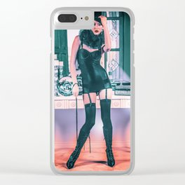 5024 Lady Mistress Natasha Clear iPhone Case