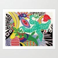 rio de janeiro Art Prints featuring RIO DE JANEIRO 001 by Maca Salazar