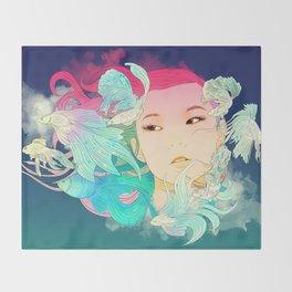 Fish Lady Throw Blanket