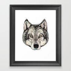 Wolf Mask Framed Art Print