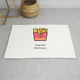JUST A PUNNY FRENCH FRIES JOKE! Rug