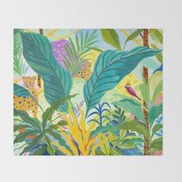 Paradise Jungle Throw Blanket