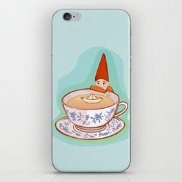 fairytale dwarf during teatime iPhone Skin
