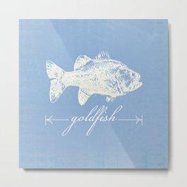 goldfish bluefish Metal Print