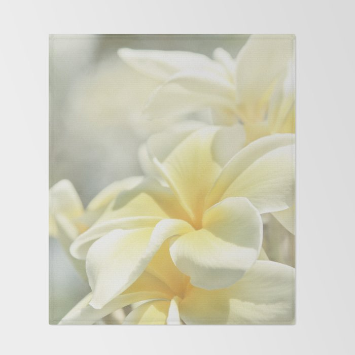 Na Lei Pua Melia Aloha e ko Lele Throw Blanket