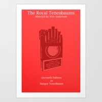 tenenbaum Art Prints featuring Margot Tenenbaum by Italyprayer
