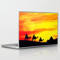 egyptian Laptop & iPad Skins featuring Egyptian supermoon by Pirmin Nohr