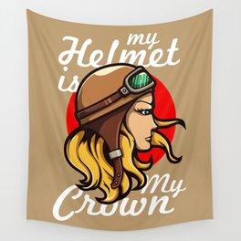 My Helmet is my Crown Wall Tapestry