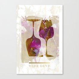 Wine Love Canvas Print