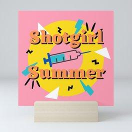 Shotgirl Summer - 90s retro vibe Mini Art Print