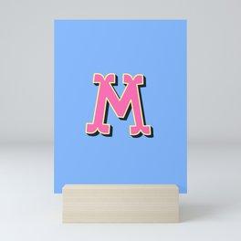 M Initial Letter Mini Art Print