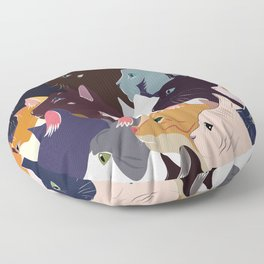 variety of cats Floor Pillow