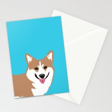 Smiling Corgi Dog Art Stationery Cards
