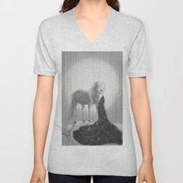 Our Hearts In the Moonlight  Unisex V-Neck