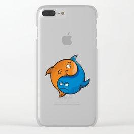 Yin Yang Fish Cartoon Clear iPhone Case