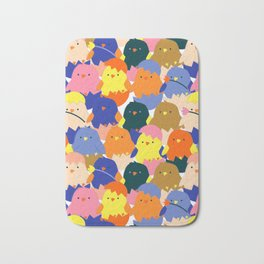 Colored Baby Chickens pattern Bath Mat