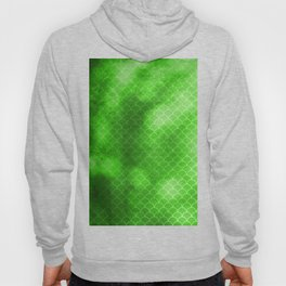 Green Flash small scallops pattern with texture Hoody
