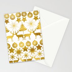 Gold Christmas 04 Stationery Cards