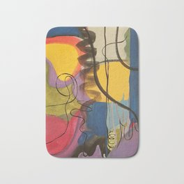 Crazy Mad World Multi Colored Abstract Bath Mat